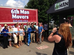 6th Man Movers ribbon cutting