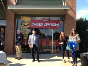 Wayback Burgers Ribbon Cutting-2014-10-22